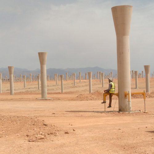 Pedestales Termosolar Hormigón Pretensado